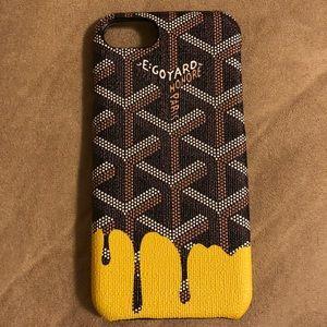 New goyard black & yellow iphone 7/8 regular case